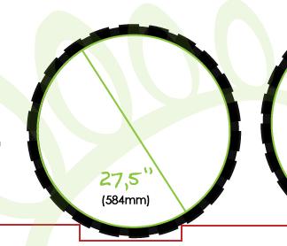 """Bicicletas de 27.5"""" rueda"""
